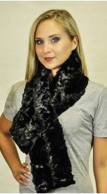 Mink fur scarf - Created with black mink fur remnants