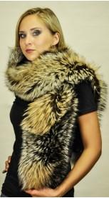 Cross fox fur scarf