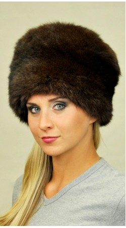 Possum fur hat - Dark brown