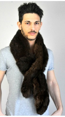 Possum fur scarf - dark brown