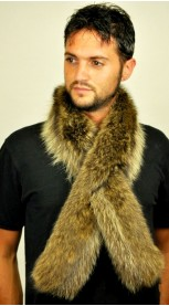 Raccoon fur scarf - Fur on both sides