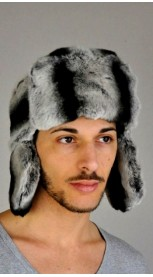 Rex - chinchilla fur hat