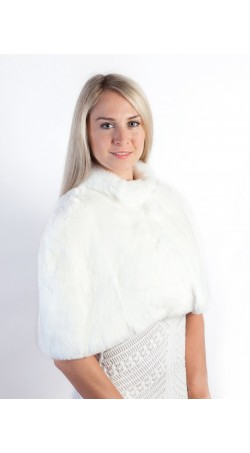 White Rex Fur Shawl