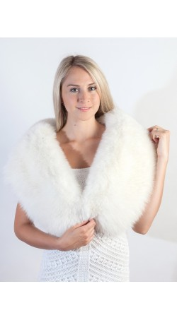 White Fox Fur Stole/Scarf