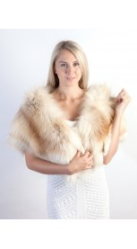 Platinum Gold Fox Fur Stole